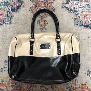 Kate Spade Black & White Patent Leather Bag